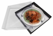 Rhodesian Ridgeback 'Love You Mum' Glass Paperweight in Gift Box Ch, AD-RR1lymPW