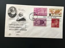 1965 INTERNATIONAL TELECOMMUNICATIONS UNION first day cover Morse & Bell UNH