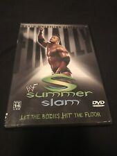 WWE WWF DVD SummerSlam 2001 w/insert RARE The Rock Stone Cold Kurt Angle