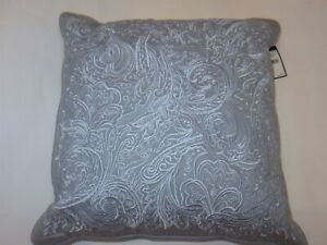 Ralph Lauren Suite embroidered decorative pillow Light Blue NWT