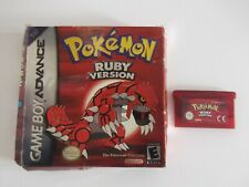 boxed pokemon ruby  for Game Boy Advance (GBA) Genuine -