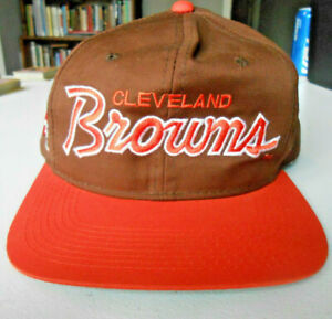 Vintage Cleveland Browns Snap Back Hat Cap NFL 1980's