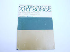 Art Songs by American & British Composers For Voice & Piano VINTAGE  MUSIC SHEET