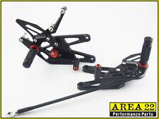 Yamaha YZF R6S 09-2009 Area 22 Adjustable Rear Sets Black Rearsets Foot Controls