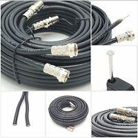 25m SKY+ or HD twin shotgun Satellite cable black NEW ! TV Satellite coax cable