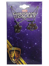 Baby Groot  & Rocket Raccoon Pendant Necklace Guardians Of The Galaxy Marvel New