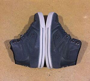DC Spartan High WC SE Men's Size 11.5 Grey BMX MOTO Skate Shoes Sneakers
