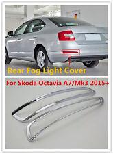 ABS Chrome Rear Fog Light Lamp Cover Trim For Skoda Octavia A7/Mk3 Sedan 2015+