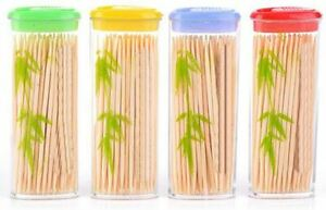 100approx Wooden Dental Tooth Picks Bamboo Toothpicks Portable Case Oral Hygiene