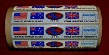 Dayco World Class Coal Master Usa Aussie Uk Union Jack Stickers Tool Box Decal