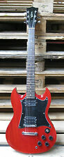 E-Gitarre CG6 WEINROT - Massivholzkörper - cooles Design - Elektrogitarre MSA