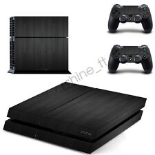 Carbon Black Wood Grain Cover Sony PlayStation 4 PS4 Skin Stickers Console