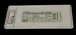 WWE VINCE MCMAHON HAND SIGNED AUTOGRAPHED TICKET ENCAPSULATED BY PSA DNA COA
