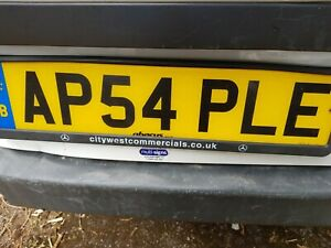 UNIQUE PERSONALISED PRIVATE CAR REG NUMBER PLATE AP54 PLE FOR APPLE CHERISHED