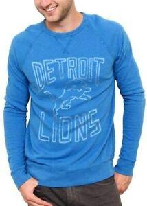Detroit Lions NFL Junk Food Field Goal Fleece Crew Sweatshirt Men's LARGE
