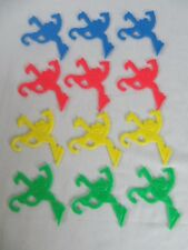 1995 Monkey Madness Replacement Set of 12 Plastic Monkeys and Clips