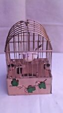 """Vintage Swinging Feathered Bird In Cage Music Box W/Hanging Hook - """"Edelweiss"""""""