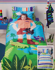 CUBBY HOUSE KIDS CROC HUNTER Boys Double Bed Doona | Quilt Cover Set NEW