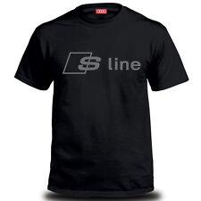 Genuine Audi S Line Car Racing Team Streetwear Motorsport Black Mens Tee T-Shirt