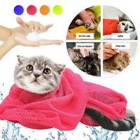 Pet Cat Grooming Restraint Mesh Bag Bath Washing Nails Cutting Cleaning Bags