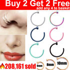 Nose Ring Surgical Steel Fake Nose Rings Hoop Lip Nose Rings Small Thin Piercing <br/> 🔥219,309 sold✅Buy 2 Get 2 Free✅CHEAPEST ON EBAY✅
