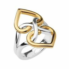 LINKS OF LONDON Infinite Love Sterling Silver Gold Vermeil Ring N NEW RRP150