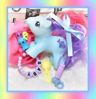 ❤️My Little Pony MLP Vtg G1 Style HQG1C Newborn Blue Baby Flipper Custom❤️