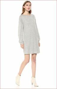 new SPLENDID women dress sweater long sleeve RF8S290 grey 5% cashmere XS $158