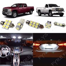 12 White LED interior lights package 2007-2013 Chevy Silverado & GMC Sierra CS3W