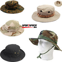 Men Camo Military Boonie Cap Sun Bucket Brim Bush Army Fishing Hiking Jungle Hat