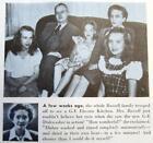 Original 1946 GE Refrigerator Photo Ad Floyd Russell Family, Macomb Illinois photo