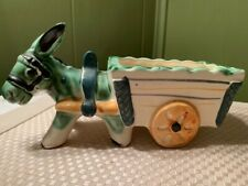 Vintage Occupied Japan Donkey with Wagon Planter