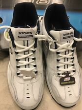 $65 SKECHERS FREEFALL STANZA SPORT MEMORY FOAM WHITE MEN'S SZ 13 SHOES SNEAKERS