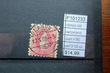 STAMPS SWITZERLAND YVERT N°85 PERF.9 1/2 USED (F101233)
