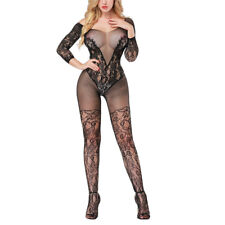 Black Lingerie Babydoll Crotchless Teddy Nightie Leotard Body Suit Stocking Red