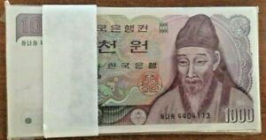 KOREA SOUTH 1000 WON P-47 1983 1,000 x 100 Pcs Bundle Lot YI UNC KOREAN MONEY