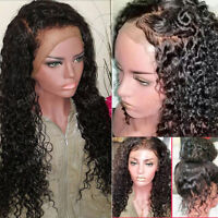 100% Top Lace Peruvian Virgin Human Hair Silk Top Full Lace Wig Deep Curl Wavy s