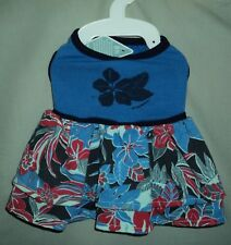 Tommy Bahama Red / Blue Floral Skirt Dog Costume Shirt Size S
