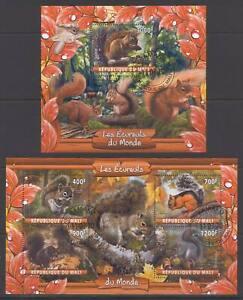 SVVGTA D71 limited 2019-2020 Fauna Wild Animals Squirrel 2 sheets