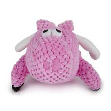 goDog Checkers Flying Pig Chew Guard Technology Tough Plush Dog Toy Pink Small