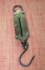Vintage Brass SALTER'S POCKET BALANCE Patent Scale 25 lbs Very Good Condition