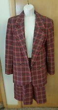 Vintage Pendleton Tacky UGLY Christmas Red Plaid Sz 8/10 Blazer Shorts Suit