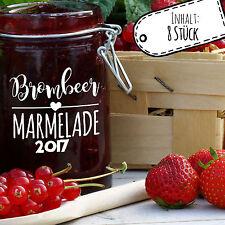 Aufkleber für Marmelade Etikett Sticker Marmeladenglas Brombeer Konfitüre ek04
