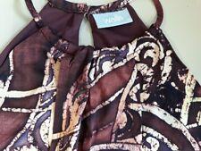 Smart ladies Wallis dark red sleeveless top  -  size 12 (40)