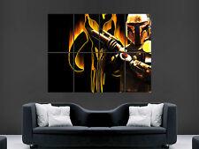Boba Fett Star Wars Gran gran pared arte cartel Imagen