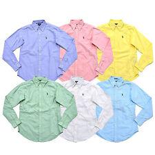 Ralph Lauren Womens Buttondown Oxford Classic Pony Logo Shirt Long Sleeve