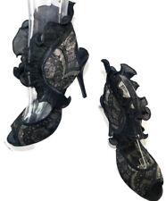 "Wild Rose Women's Black Lace Heels ""Urban 88""  ~ Size 11"
