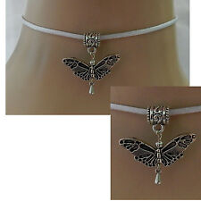 Silver Butterfly Pendant Choker Necklace Handmade Adjustable NEW Accessories