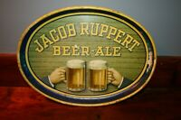 Vintage/Antique Jacob Ruppert Beer-Ale Oval Tray Metal Barware Serving