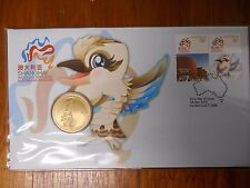 2010 $1 SHANGHAI WORLD EXPO  Coin & Stamp PNC Unc in Dust Cover